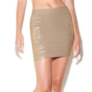 ❣movingSALE❣Guess - Gold Foil Bandage Mini Skirt